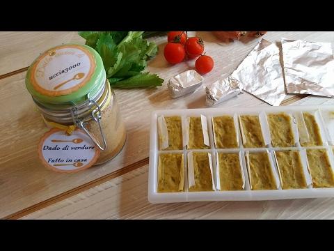 dado vegetale a cubetti o granulare fatto in casa - la video ricetta
