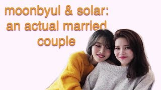 Moonbyul and Solar: an actual married couple | Moonsun