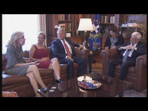 Η Kerry Kennedy και η Μαριάννα Βαρδινογιάννη στο  Προεδρικό Μέγαρο