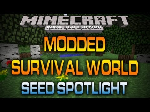 Minecraft (Xbox 360): MODDED SURVIVAL WORLD W/ DOWNLOAD (Seed Spotlight)