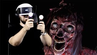 Играем в PS VR на PS4 Pro - очень страшно