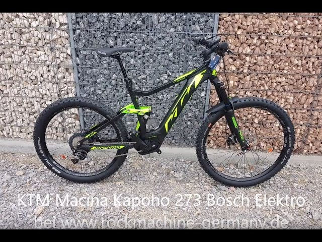 Электрический двухподвес KTM Macina Kapoho 273 2019.
