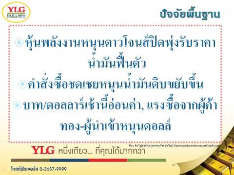 YLG บทวิเคราะห์ราคาทองคำประจำวัน 30-01-15