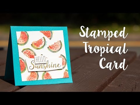Stamped Tropical Card - Sizzix