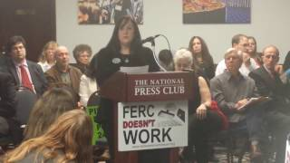 Testifying against FERC at the People's FERC hearing
