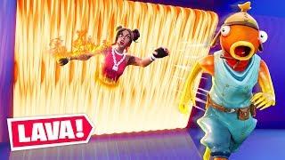 Fortnite Escape The Lava Challenge! (Lava Run)