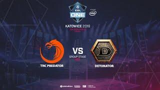 TNC vs Detonator, ESL One Katowice, SEA Qualifier, bo3, game 1 [Lum1Sit]