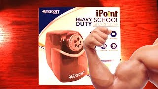This may be the best electric pencil sharpener ever. This video will go over my impressions of this heavy duty pencil sharpener for school or office.Westcott Heavy Duty Sharpener: http://www.westcottbrand.com/ipoint-heavy-duty-school-sharpener.htmlInstagram Drawings: https://www.instagram.com/rixcandoit/Check out my blog page: http://rixcandoit.blogspot.com/My Tumblr page: http://rixcandoit.tumblr.com/