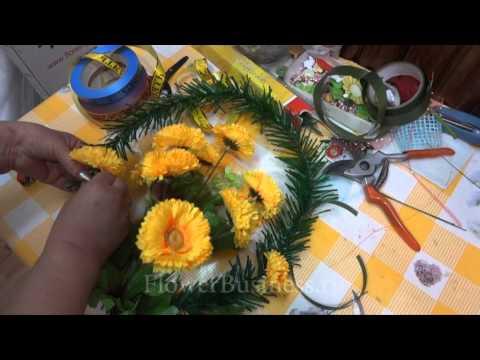 Как сделать ритуальный цветок своими руками