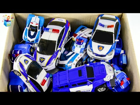 Learning Color disney cars and Police Vehicle full Box Play toys funny video for kids