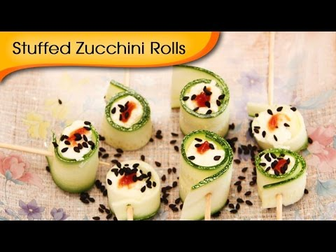 Stuffed Zucchini Rolls – Delicious Party Starter Snack Recipe By Annuradha Toshniwal