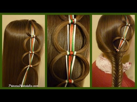 Braid hairstyles - Ribbon Chain Braid Holiday Hairstyles