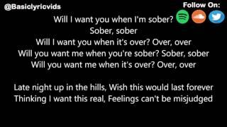 Sober - By: Bazzi (Lyrics)