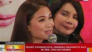 Video BT: Heart Evangelista, inaming nagkikita sila ni Sen. Chiz Escudero MP3, 3GP, MP4, WEBM, AVI, FLV September 2019