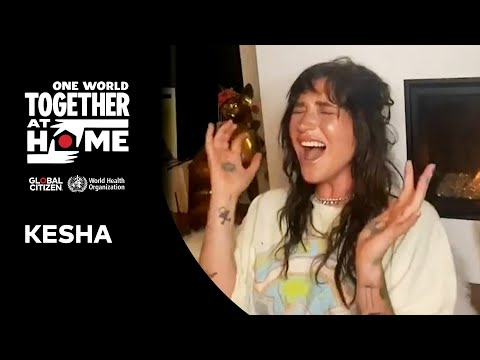 """Kesha performs """"Praying""""   One World: Together at Home"""