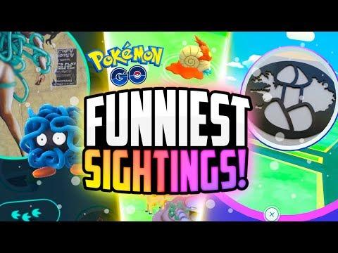 Pokemon Go - The Top 5 FUNNIEST Pokemon Go Sightings! (Rock Event FAILS + Hilarious Pokestops!)