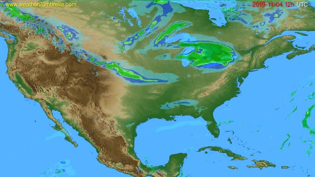 Radar forecast USA & Canada // modelrun: 00h UTC 2019-11-04