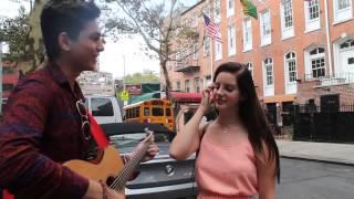 Emin Syla singing YAYO with Lana Del Rey in NYC,New York