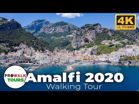 Amalfi Walking Tour 4K - June 27th, 2020 видео