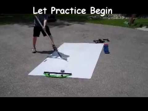 Hockey Shooting Passing Stickhandling Combo with Skill Pad