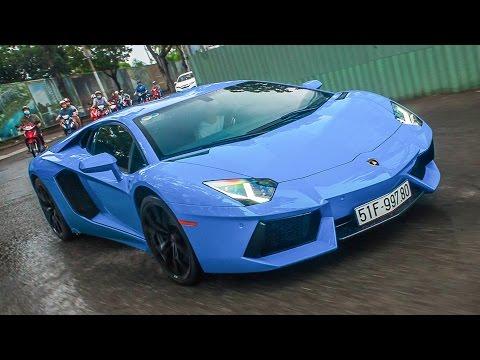 Lamborghini Aventador độ pô Armytrix náo loạn Sài Gòn   XSX