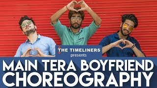 Watch 3 guys groove to the tune of Main Tera Boyfriend. The song has been sung by Arijit Singh & Neha Kakkar starring Sushant Singh Rajput & Kriti Sanon. It's from the upcoming movie Raabta.Please subscribe to our channel by clicking the following link to make sure you get the notifications for our videos:https://goo.gl/TVeum4Visit Our Website: https://www.thetimeliners.comLike Us On Facebook: https://www.facebook.com/TheTimelinersTweet Us: https://twitter.com/the_timelinersFollow Us On: https://www.instagram.com/thetimeliners/Credits:Original Song: Main Tera Boyfriend Singers: Arijit Singh & Neha KakkarMusic Rights: T-SeriesChannel Head: Akansh GaurDirector: Shreya MehtaChoreography: Prashant Adarsh, Gaurav Thukral & Govind BishtCinematography: Aaron Gabriel Cherian Editor: Tushar ManochaArt Director: Beeva MahajanLine Producer: Puneet WaddanGraphics: Tushar ManochaSocial Media: Siddhant Grover, Bhavya Prabhakar, Shreya Mehta & Vartika Manchanda