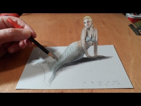3д рисунки на бумаге видео