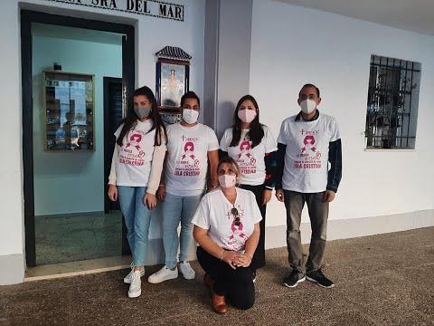 Entrega de Camisetas para Marea Rosa Virtual contra el Cáncer de Mama-Isla Cristina