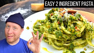 How to make fresh pasta ft simplest recipe on internet & creamy roasted cashew pesto   Food Busker by Food Busker