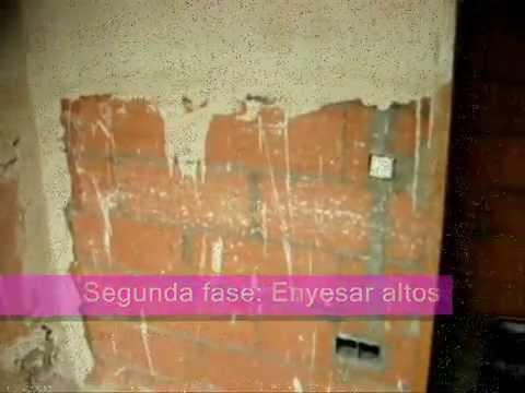 ENLUCIDO - Piso rehabilitado en Gavà (Barcelona). Imprimación, enyesado, enlucido con mecafino y cajones de tabiquería seca (tipo pladur) ignifugo. Pida presupuesto sin...