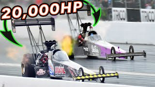 Standing Between 20,000HP - Top Fuel Dragsters! by 1320Video