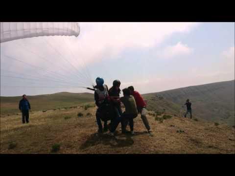 Fidan Höll Tandem flight at Qiki