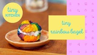 Tiny Rainbow Bagel | Tiny Kitchen by Tastemade