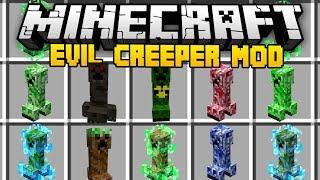 Video Minecraft EVIL CREEPER MOD (Mod Showcase) MP3, 3GP, MP4, WEBM, AVI, FLV September 2019