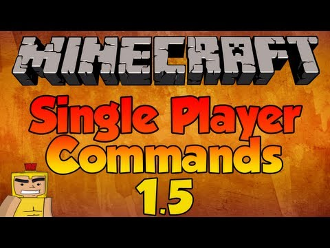 How to use NEW Single Player Commands – Minecraft 1.8