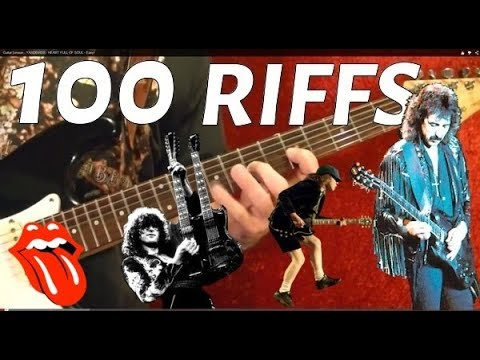 27 Popular Rock Riffs – Guitar Lesson ✅✅🎵🎸