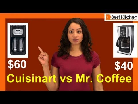 Best Coffee Maker Reviews – under $100 – Cuisinart Coffee maker vs Mr. Coffee 12 Cup