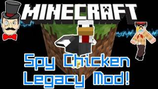 Minecraft Mods - SPY CHICKEN LEGACY Mod! Special Forces Chicken to Defeat the Evil Humans!