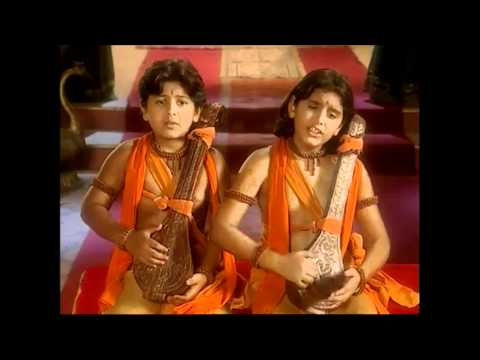 LORD RAMA - http://www.JAGADAMBE.org - Luv & Kush Singing Ramayan for Lord Rama [Full Song] Brave Sons of Mother Sita Lav and Kush Sing Ramayana *HD Sound* Ayodhya India.