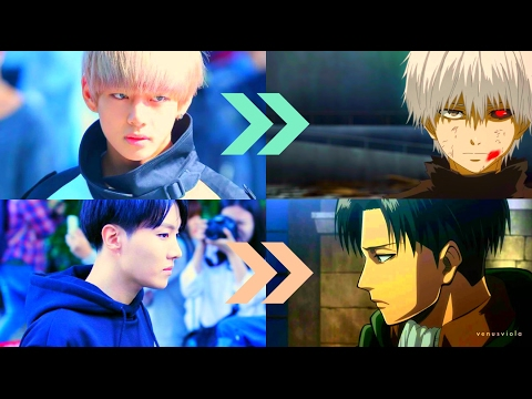 Video BTS AS ANIME CHARACTERS IN REAL LIFE download in MP3, 3GP, MP4, WEBM, AVI, FLV January 2017