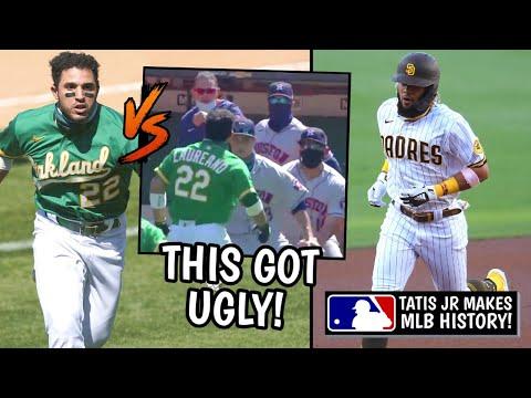 Ramon Laureano Fights the ASTROS! Fernando Tatis Jr Makes HISTORY, Christian Yelich (MLB Recap)