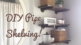 We decided to put up shelves in our master bathroom because we installed a pedestal sink and knew we would need the extra storage. It's a super simple project, but a bit pricier than I expected (who knew plumping pieces would be that expensive 😜) totally in love with it regardless!! Have any questions be sure to leave a comment, thanks for watching!!Follow me on IG @Karena_MyLife