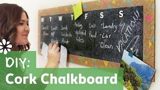 DIY Cork Chalkboard Weekly Planner