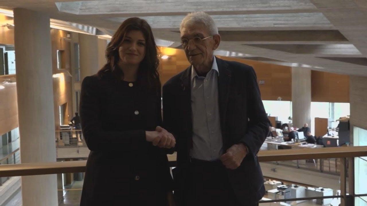 Συνάντηση του Γιάννη Μπουτάρη  με την Κατερίνα  Νοτοπούλου
