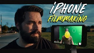 """You've heard it said before - """"The best camera is the one you have with you""""... While we don't completely agree with that, there is a lot of truth to it. And now more than ever, almost any camera you can get your hands on will yield great results... So today we take a look at filmmaking with an iPhone. Song we used in this episode - http://bit.ly/artlistsongWatch the sketch we shot on the iPhone - http://bit.ly/arterypopAction Mont short shot with OSMO - http://bit.ly/hallfight-----------------------------------------------------------------Filmic Pro - http://bit.ly/filmicproFR----------------------------------------------------------------- **GEAR WE USE** COLOR GRADING LUTs:http://bit.ly/buyFRluts SOUND FX:http://bit.ly/buyFRsfx MUSIC:http://bit.ly/buyFRmusic VFX ASSETS:http://bit.ly/buyFRvfx  CAMERAS:C300 mkII: http://bit.ly/buyC300iiA7s II: http://bit.ly/buya7siiC100: http://bit.ly/buyc100 LENSES: Rokinon: http://bit.ly/buyrokinon AUDIO:NTG3: http://bit.ly/buyntg3H4n Zoom: http://bit.ly/buyh4nzoomZoom F8: http://bit.ly/buyzoomf8 TRIPOD:BV-10: http://bit.ly/buybv10-----------------------------------------------------------------Connect with us: TWITTER:FilmRiot - http://twitter.com/FilmRiotRyan - http://twitter.com/ryan_connollyJosh - https://twitter.com/Josh_connollyStark - https://twitter.com/mstarktvJustin - https://twitter.com/jrobproductionsEmily - https://twitter.com/emily_connolly FACEBOOK:Film Riot - https://www.facebook.com/filmriotRyan - https://www.facebook.com/theryanconnollyJosh - https://www.facebook.com/TheJoshConnolly INSTAGRAMFilm Riot - https://www.instagram.com/thefilmriot/Ryan - http://instagram.com/ryan_connollyJosh - http://instagram.com/josh_connollyStark - http://instagram.com/mstarktvJustin - http://instagram.com/jrobproductions-----------------------------------------------------------------Process:Editing - Adobe Premiere ProColor Grading - Magic Bullet Looks & Colorista Theme Song by Hello Control: http://bit.ly/hellocontrol color cor"""