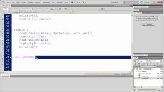 CSS Fundamentals With Dreamweaver CS5 - Part 7