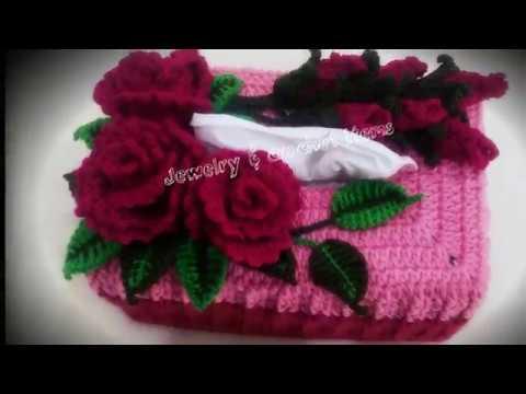 Crochet Tissue Box Cover Tutorial( part 1)