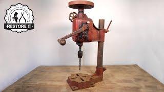 Video Antique Rusty Bench Drill - Detailed Restoration MP3, 3GP, MP4, WEBM, AVI, FLV April 2019