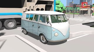 Video Learning Color with City Vehicle Old van drawing nursery rhymes play for kids MP3, 3GP, MP4, WEBM, AVI, FLV Juni 2019