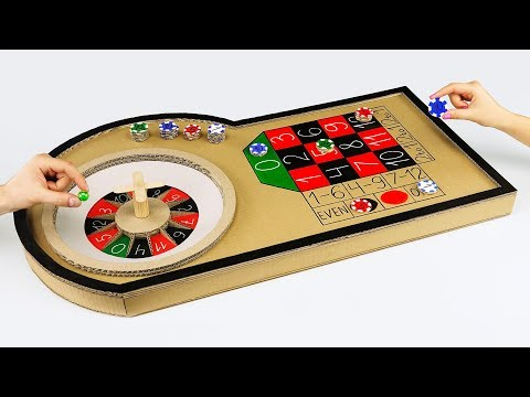 How to Make Mini Casino Roulette Game from Cardboard at Home (видео)